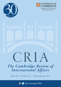 panke 2017 studying small states in international security affairs. cambridge review of international affairs