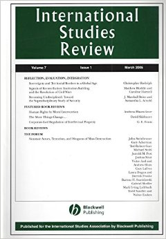international studies review cover